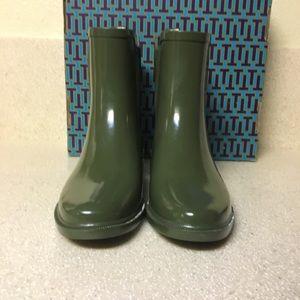 d30585c2add Tory Burch Shoes - Tory Burch Stormy Rain Bootie Green Size 7